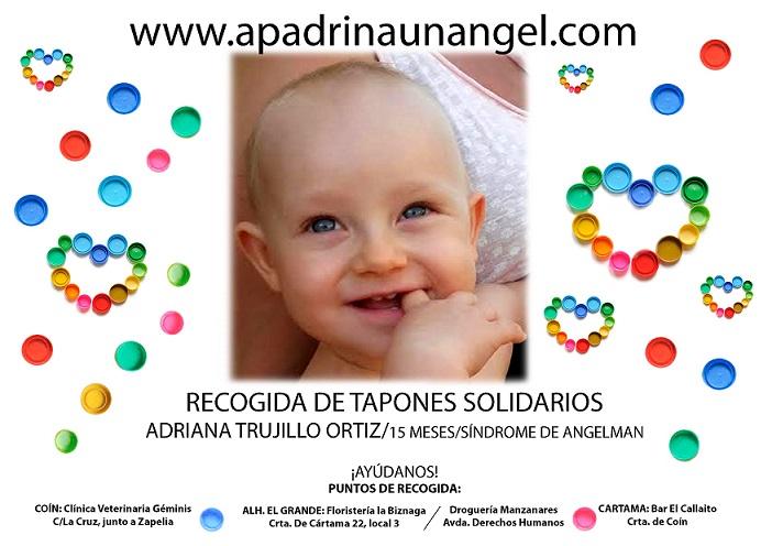 Recogida de Tapones Solidarios, Síndrome de Angelman, Apadrina Un Ángel